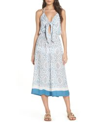 fc730cd71710 Ashley Stewart · Surf Gypsy - Tie Front Cover-up Gaucho Jumpsuit - Lyst