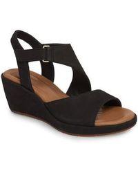 Clarks | Clarks Un Plaza Wedge Sandal | Lyst