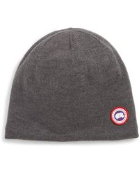 94879e8d0ee Lyst - Canada Goose Boreal Beanie in Blue for Men