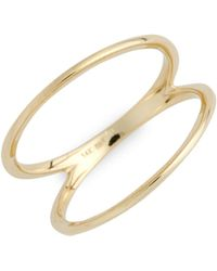 Bony Levy - 14kt Two Bar Ring (nordstrom Exclusive) - Lyst