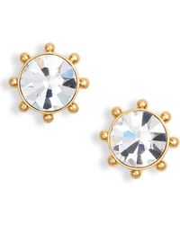 Kate Spade - Flying Colors Bezel Stud Earrings - Lyst