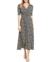 Chaus - Ruched Speckle Midi Dress - Lyst