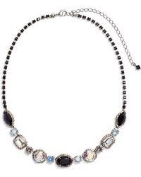 Sorrelli - Adorned Multi Cut Crystal Necklace - Lyst