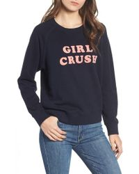 Mother - 'the Square' Destroyed Graphic Pullover Sweatshirt - Lyst