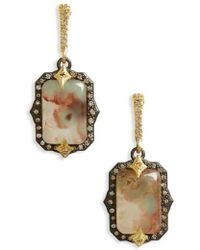 Armenta Old World Midnight Oval Crivelli Earrings with Diamonds gH30u