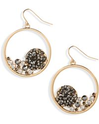 Natasha Couture - Crystal Hoop Earrings - Lyst