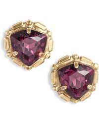 Sorrelli - Adorned Triangle Crystal Stud Earrings - Lyst
