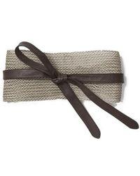 Lafayette 148 New York - Obi Linen & Leather Belt - Lyst
