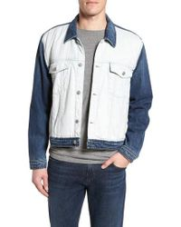 7 For All Mankind - 7 For All Mankind Inside Out Trucker Jacket - Lyst