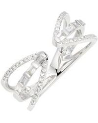 EF Collection - Open Baguette Queen Diamond Ring - Lyst