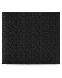 Loewe - Logo Embossed Calfskin Leather Bifold Wallet - Lyst