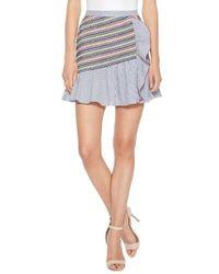 Parker - Jordan Stripe Miniskirt - Lyst