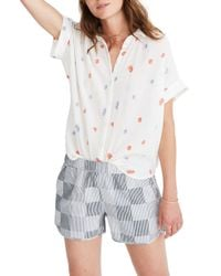 Madewell - Daisy Embroidered Central Shirt - Lyst