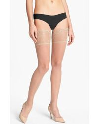 Donna Karan | Donna Karan Lace Top Stay-up Stockings | Lyst