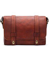 Bosca - Leather Messenger Bag - Lyst