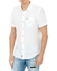 True Religion - Roll Cuff Linen Shirt - Lyst