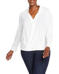 Foxcroft - Claudette Wrap Top - Lyst