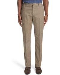 Canali - French Pocket Stretch Straight Leg Pants - Lyst