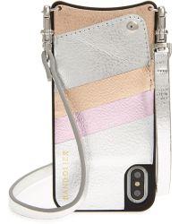 Bandolier - Emma Leather Iphone X/xs Case - Metallic - Lyst
