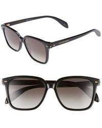 Alexander McQueen - 53mm Square Sunglasses - - Lyst