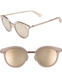 Kate Spade - Lisanne 50mm Special Fit Round Sunglasses - Lyst