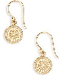 Anna Beck - Beaded Circle Drop Earrings - Lyst