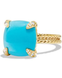 David Yurman - 'chatelaine' Ring With Diamonds - Lyst