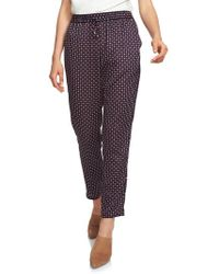 1.STATE - Daisy Foulard Drawstring Pants - Lyst