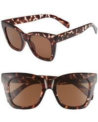 Quay - After Hours 50mm Square Sunglasses - Tort / Brown - Lyst