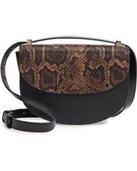 A.P.C. - Sac Geneve Snake Embossed Leather Shoulder Bag - - Lyst
