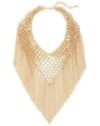 Cara - Multi Chain Fringe Collar Necklace - Lyst