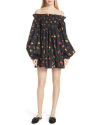 Caroline Constas - Kora Off The Shoulder Dress - Lyst