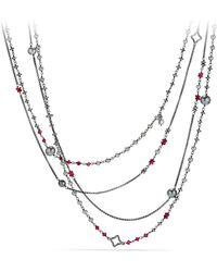 David Yurman - Solari Two Row Pearl Chain Necklace - Lyst