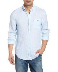 Vineyard Vines - Cooper's Town - Tucker Classic Fit Stripe Linen Sport Shirt - Lyst