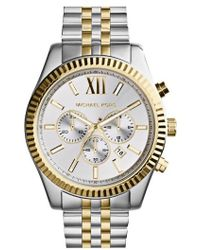 Michael Kors | Large Lexington Chronograph Bracelet Watch | Lyst