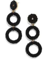 BaubleBar - Capella Beaded Triple Hoop Drop Earrings - Lyst