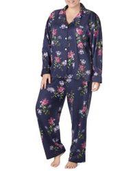 Lauren by Ralph Lauren - Floral Print Pajamas - Lyst
