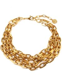 Ben-Amun - Oval Link Multiple Chain Necklace - Lyst