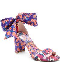e050b8e11c4 Lyst - Calvin Klein Women s Narella Colorblocked Dress Sandals in Orange