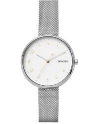Skagen - Signatur Mesh Strap Watch - Lyst