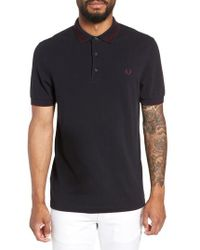 Fred Perry - Contrast Collar Polo Shirt - Lyst