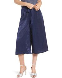 4si3nna - Tie Front Satin Culottes - Lyst