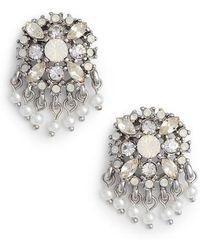 Marchesa - Cluster Button Earrings - Lyst