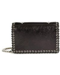 CALVIN KLEIN 205W39NYC - Whipstitch Leather Shoulder Bag - - Lyst