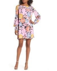 French Connection - Shikoku Floral Crepe Shift Dress - Lyst