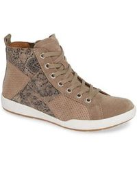 fa5004db059750 Lyst - Sam Edelman Lace Up Wedge Sneakers Brogan in Natural