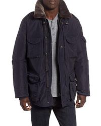 Parajumpers - 700 Fill Power Down Field Jacket With Faux Fur Collar - Lyst