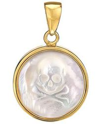 Asha - Skull Mother-of-pearl Charm - Lyst