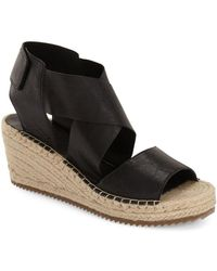 Eileen Fisher - 'willow' Espadrille Wedge Sandal - Lyst