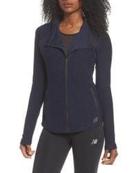 New balance windblocker fleece lined running jacket women's